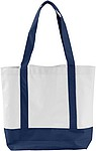 MILADA Nákupní taška, dlouhé rukojeti, modrá papírová taška s potiskem