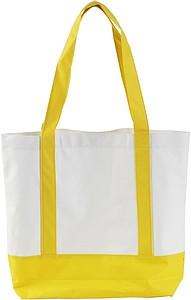 MILADA Nákupní taška, dlouhé rukojeti, žlutá