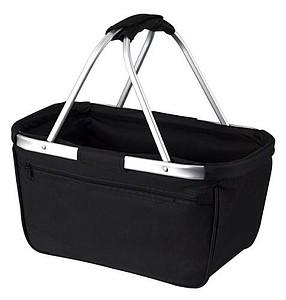 BERNARD Skládací nákupní košík s kapsou na zip, černá