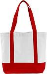 MILADA Nákupní taška, dlouhé rukojeti, červená papírová taška s potiskem