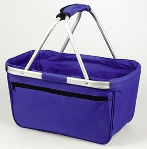 BERNARD Skládací nákupní košík s kapsou na zip, royal modrá