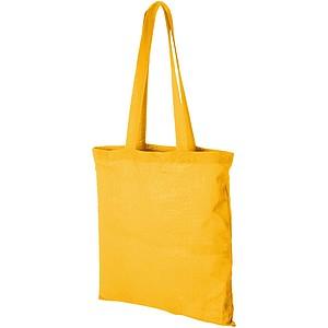 TOMAN Bavlněná nákupní taška, žlutá papírová taška s potiskem