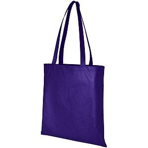 Nákupní taška z netkané textilie, fialová