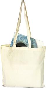 Nákupní taška, dlouhé rukojeti, béžová