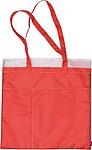 Nákupní taška s bočními kapsičkami, červená