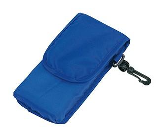 NADINA Skládací nákupní taška s pouzdrem, modrá