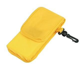 NADINA Skládací nákupní taška s pouzdrem, žlutá