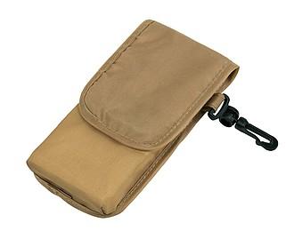 NADINA Skládací nákupní taška s pouzdrem, béžová papírová taška s potiskem