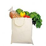 Bavlněná nákupní taška s krátkými uchy, bílá