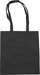 ALBÍNA Nákupní taška, černá papírová taška s potiskem