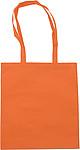 ALBÍNA Nákupní taška, oranžová papírová taška s potiskem