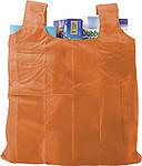 JASMÍNA Skládací nákupní taška s klipem, oranžová
