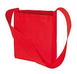 Nákupní taška s širokým uchem na rameno,červená