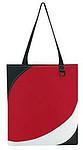 Nákupní taška z polyesteru, černo bílo červená