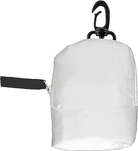 HINTON Nákupní taška balitelná do pytlíku s klipem, bílá