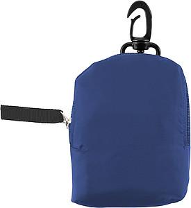 HINTON Nákupní taška balitelná do pytlíku s klipem, modrá