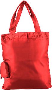HINTON Nákupní taška balitelná do pytlíku s klipem, červená