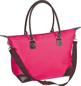 Nákupní taška s ramenním popruhem, růžová