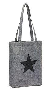 Plstěná nákupní taška s hvězdou