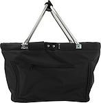JANAH Skládací nákupní košík, 600d polyester, černý