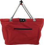 JANAH Skládací nákupní košík, 600d polyester, červený papírová taška s potiskem