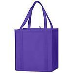 Nákupní taška se zpevněným dnem z netkané textilie, purpurová