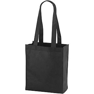 Málá nákupní taška z netkané textilie, černá