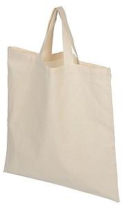 Bavlněná nákupní taška s krátkými uchy