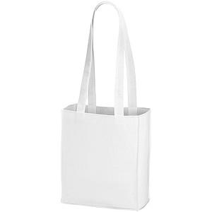 Málá nákupní taška z netkané textilie, bílá