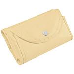 Skládací nákupní taška z netkané textilie, béžová