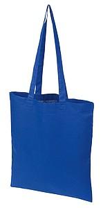 Bavlněná nákupní taška s dlouhými uchy, královská modrá