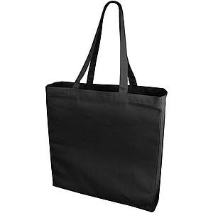 Bavlněná nákupní taška se zpevněným dnem, černá