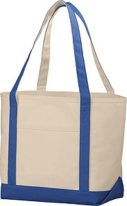 Nákupní taška z hrubé bavlny, přírodní/královská modrá