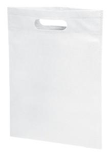 Malá nákupní taška s vyříznutými uchy, netkaná textilie, bílá