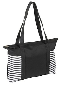 Nákupní taška na zip, černá