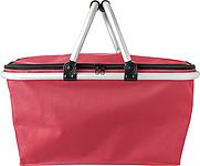OXFORD BASKET Skládací nákupní košík ze tkaného materiálu typu Oxford, červený