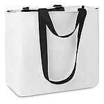 Nákupní taška s louhými i krátkými držadly, bílá