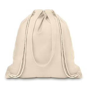 Plátěná nákupní taška s dlouhými uchy, béžový