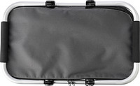 OXFORD COOLER Skládací termokošík ze tkaného materiálu typu Oxford, šedá