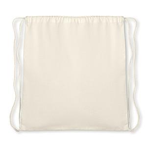 Taška se šňůrkami ze 100% organické bavlny, 105 gr/m2, béžový