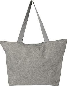 Nákupní taška na zip, šedo oranžová