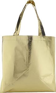 Zlatá laminovaná nákupní taška