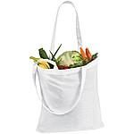 Bavlněná nákupní taška s dlouhými uchy, bílá