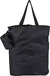KAWANA Skládací nákupní taška, černá papírová taška s potiskem