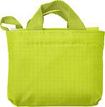 KAWANA Skládací nákupní taška, světle zelená papírová taška s potiskem
