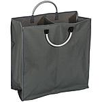 Nákupní taška rozdělená na dvě přihrádky, s hliníkovými uchy
