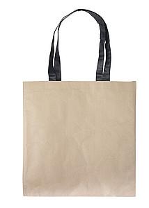 SUDANA Papírová taška z recyklovaného papíru, černá