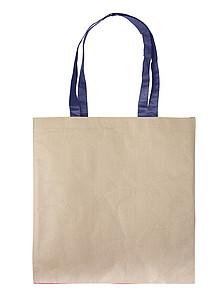 SUDANA Papírová taška z recyklovaného papíru, modrá