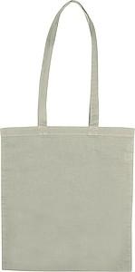 Bavlněná nákupní taška s dlouhými uchy, šedá