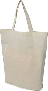 Skládací bavlněná nákupní taška v přírodní barvě